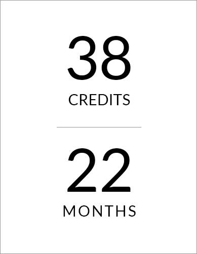 22-month program, 38 credits